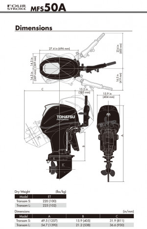 Tohatsu 4 Stroke MFS50AW