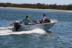 New 4.2 Bluefin Rouge pressed with new 30HP outboard