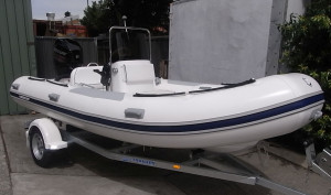 Brand new Mercury 460 'Hypalon' Ocean Runner console RIB package fitted with Mercury 60hp EFI 4 stroke and custom trailer to suit