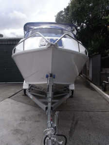New Horizon 525 Scorpion Aluminium cuddy cabin available as hull only, hull and trailer of full package with a Mercury EFI 4 stroke.