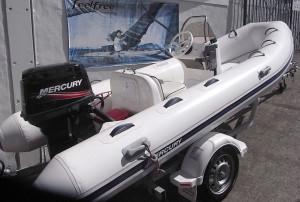 Brand new Mercury 420 Hypalon Ocean Runner Fibreglass RIB.