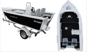 Brand new Horizon 415 EasyFisher PRO deep V aluminium boat available in a centre or side console or as an open tiller steer model.