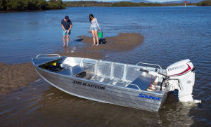 Brand new Savage 355, 395 and 425 Raptor V-Punt open aluminium boats.