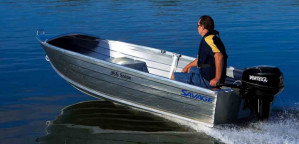 Brand new Savage 355 and 375 Snipe open aluminium boats in stock