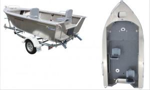 Brand new Horizon 5.25m Easy Fisher PRO deluxe tiller steer aluminium boat.