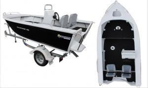 Brand new Horizon 465 EasyFisher Centre/Side console aluminium boat.
