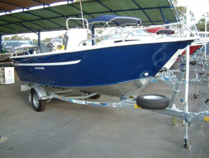Brand new Horizon 5.25m EasyFisher centre/side console aluminium boat.