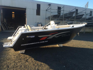 Brand new Horizon 485 Northerner Deluxe side console aluminium boat.