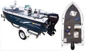 Brand new Horizon 440 Stalker Deluxe side console V - punt aluminium boat.