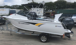 Brand new Horizon 540 Sunrunner Deluxe runabout aluminium boat available as hull only, hull and trailer of full package with a Mercury outboard motor now with 6 years warranty!