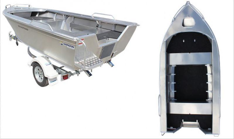 Brand new Horizon 4.15m Easyfisher deep V bottom aluminium boat in stock.