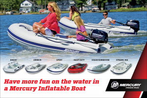 Brand new top quality HYPALON Mercury inflatables in stock.