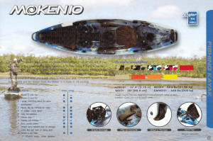 Brand new Feel Free Moken 10 Angler sit on top fishing kayak.