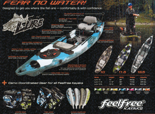 Brand New Feel Free Lure 11 5 Stand Up Sit On Top Fishing
