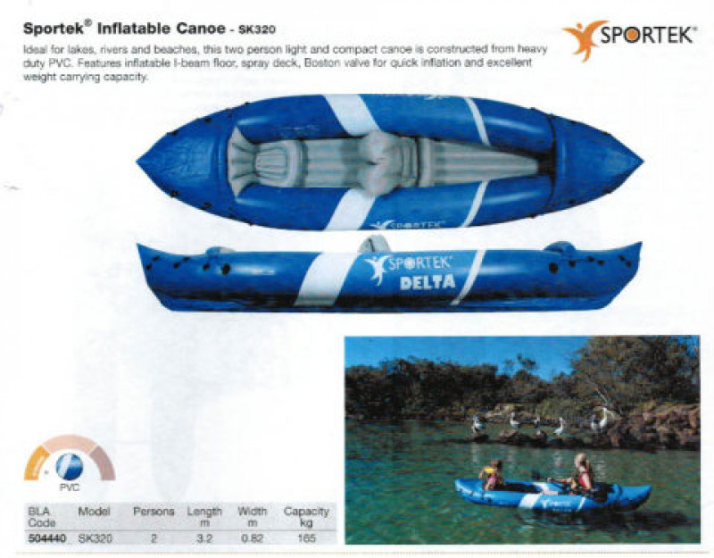 Brand new Sportek SK320 2 person inflatable kayak reduced from $349 to $149! Save $200!