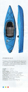 Brand new Dagger Zydeco 9 sit in recreational kayak.