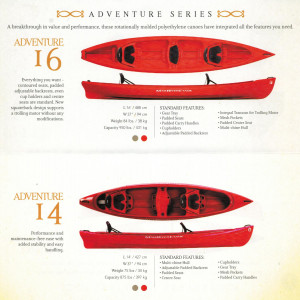 BRAND NEW MAD RIVER ADVENTURE 16 3 SEATER CANADIAN CANOE.