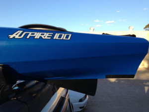 Brand new Wilderness Systems Aspire 105 sit in kayak.