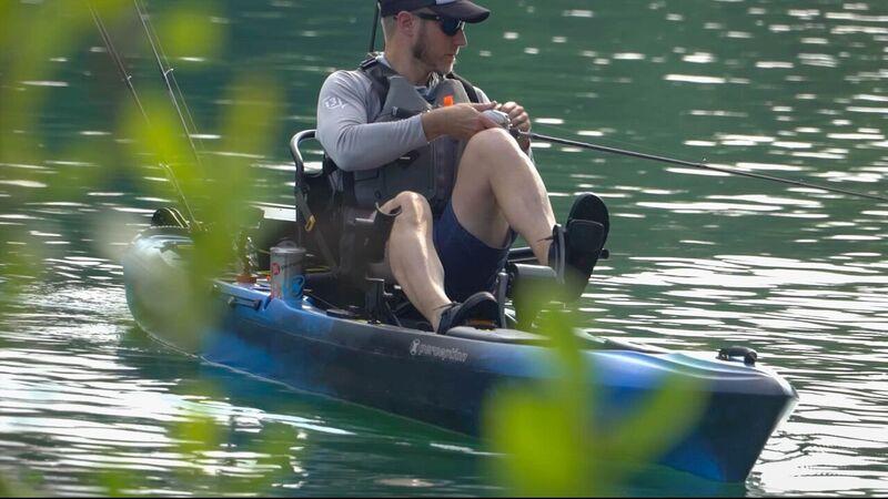 Brand new Perception Pescador Pilot 12 0 Pedal fishing kayak