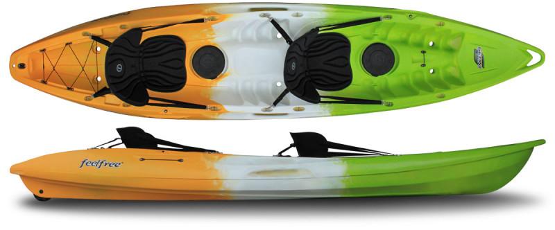 Brand new Feel Free Gemini 2 person sit on top recreational kayak.