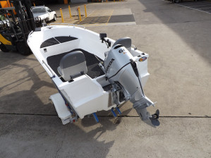 Polycrafts New  450 Drifter series . A Tiller Steer package for easy uncomplicated  boating