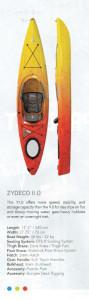 Brand new Dagger Zydeco 11 sit in touring kayak.