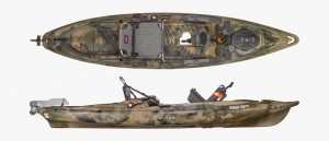 Brand new Old Town Predator XL fishing kayak with built in Minn Kota 45lb saltwater electric trolling motor pod!