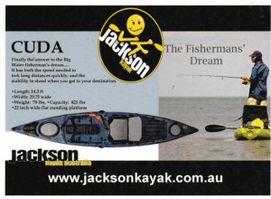 Brand new Jackson Cuda 12 sit on/stand up fishing kayak with rudder reduced from $2499 to $1899!!!