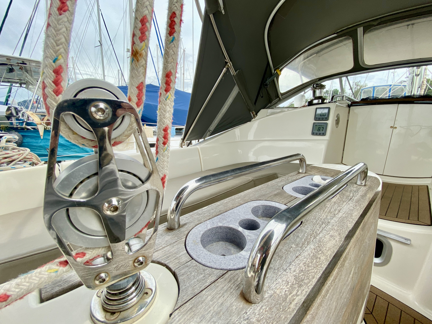 """Plate 6/"""" Solid Cast Marine 316 Stainless Steel Boat Deck Inspection Port"""
