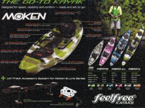 Brand new Feel Free Moken 14 sit on top fishing/touring kayak with rudder!