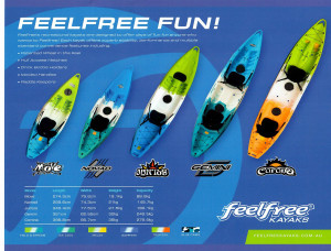 Brand new Feel Free Gemini 2 person sit on top recreational kayak.