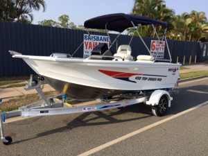 New Model Quintrex 430 Top Ender Pro Powered by the Yamaha F60 EFI 4 Stroke Our pack 3