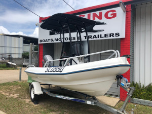 2007 420 MAC BOAT POWERED BY 2008 MARINER 50hp 2-STROKE (128HRS)