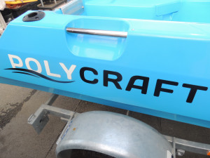 Polycraft 3.00 Tuffy  Tuff Tender Our Pack 4  with a Yamaha F15  Four Stroke
