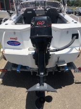 2004 QUINTREX 460 COASTRUNNER C.V. RUNABOUT  WITH 60HP MERCURY 2-STROKE
