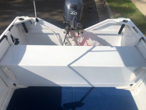 2016 SAVAGE JABIRU OPEN ALUMINUM DINGHY WITH  YAMAHA 40HP 4-STROKE