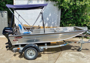 Brand new Kimple 350 Mariner V- punt aluminium boat reduced from $2599 to $2399!!! 1 left!