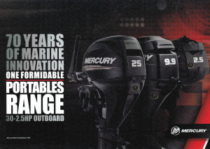 BRAND NEW MERCURY PORTABLE 4 STROKE OUTBOARD MOTORS WITH A 6 YEAR WARRANTY - Heavily reduced while stocks last.