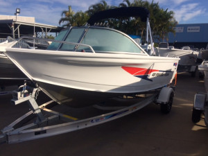 New Quintrex 481 Fishabout Pro fitted with a F 75 EFI 4 stroke Pack 3