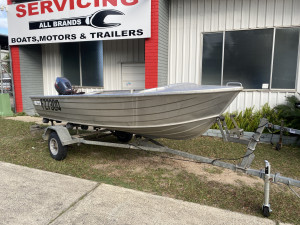 USED 3.8 STACER KIPPER WITH 15HP YAMAHA 2-STROKE