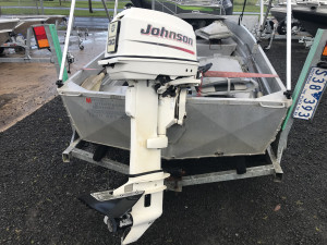 Used 1990 Brooker tinny with a 2004 30hp Johnson