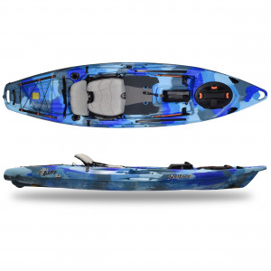 Brand new Feel Free Lure 11.5 stand up/sit on top fishing kayak with rudder.
