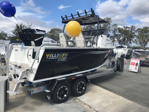 NEW INSTOCK YELLOWFIN 6200 FOLDING HARD TOP WITH EVINRUDE 140 HP GEN 2 FOR SALE