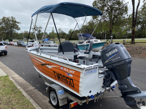 USED 2010 SEAJAY ESCAPE SPORTS SC WITH 2010 YAMAHA  50HP 4-STROKE (260hrs)
