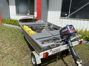 USED 2012 BLUEFIN SCALLYWAG WITH 4 HP YAMAHA 2-STROKE