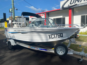 USED 2014 QUINTREX 490 FISHABOUT WITH 75HP EVINRUDE (43.6Hrs)