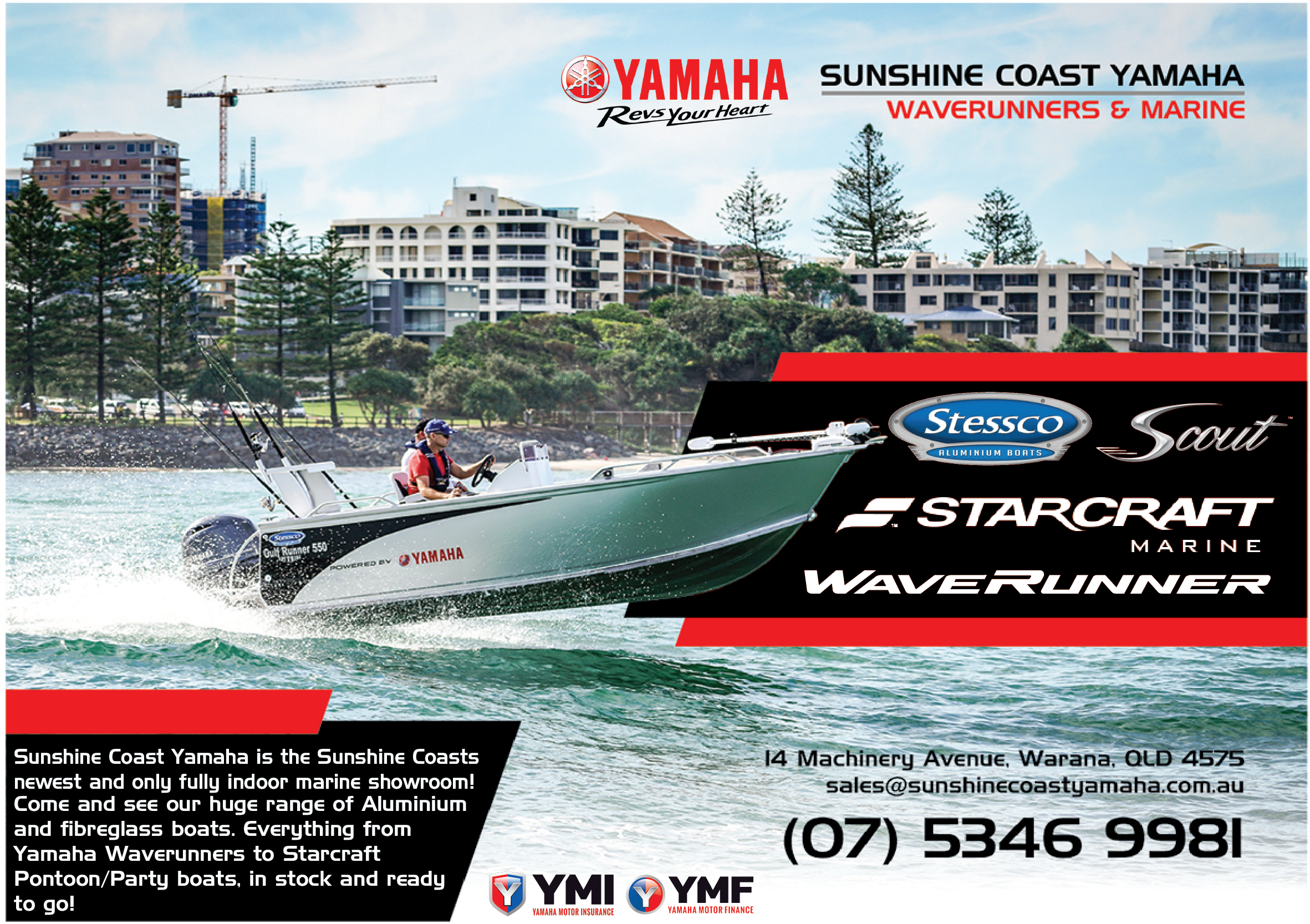 Boats for Sale Sunshine Coast. Stessco. Scout Boats. Pontoon Boats. Party Boats
