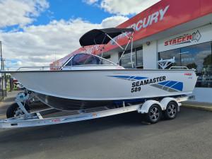 589 Seamaster Stacer, 115hp Mercury 4 stroke & alluminum trailer