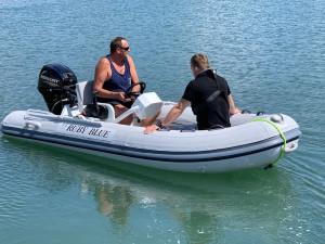 Aurora Reef Rider 350 Classic -aluminum hull centre console RIB
