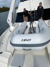 AB Ventus VL 12 -light weight fibre glass hull -  Inflatable RIB